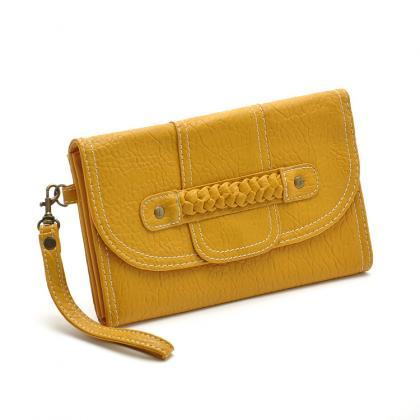 Yellow Phone Bag Purse Change Purse..